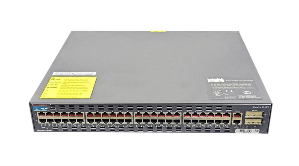 Cisco Catalyst 2948G-GE-TX 1Gbps 48-Ports Switch Ethernet 10/100/1000 4SFP (Refurbished) Mfr P/N WS-C2948G-GE-TX