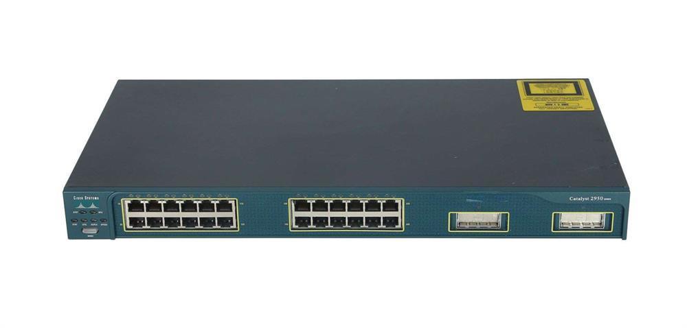 Cisco WS-C2950G-24-EI 24-Port Fast Ether 2-Port 1000Base-x GBIC Uplinks Switch