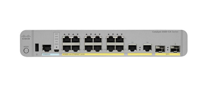 WS-C3560CX-12PC-S= Cisco Catalyst 3560-CX 12-Ports 10/100/1000Mbps Ethernet Switch (Refurbished)