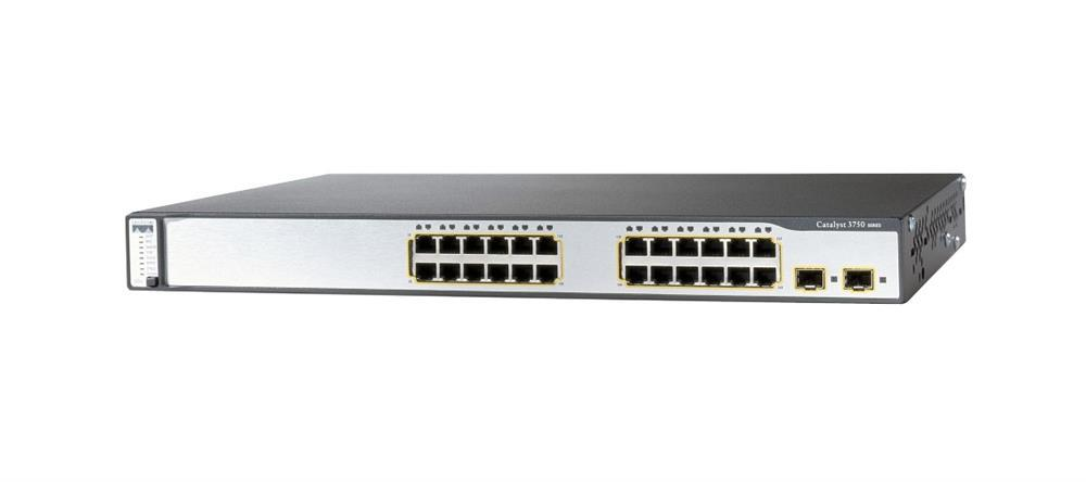 Cisco Catalyst 3750 24-Ports 10/100 2SFP PoE Standard Switch (Refurbished) Mfr P/N WS-C3750-24PS-E