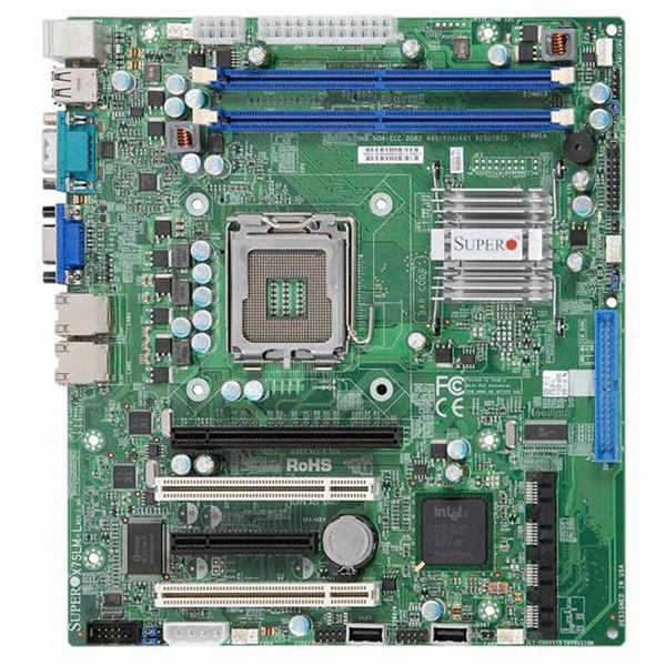 X7SLM SuperMicro Socket LGA775 Intel 945GC Chipset Core 2 Duo/ Pentium D/ Pentium 4/ Celeron D Processors Support DDR2 2x DIMM 4x SATA 3.0Gb/s uATX Motherboard (Refurbished)
