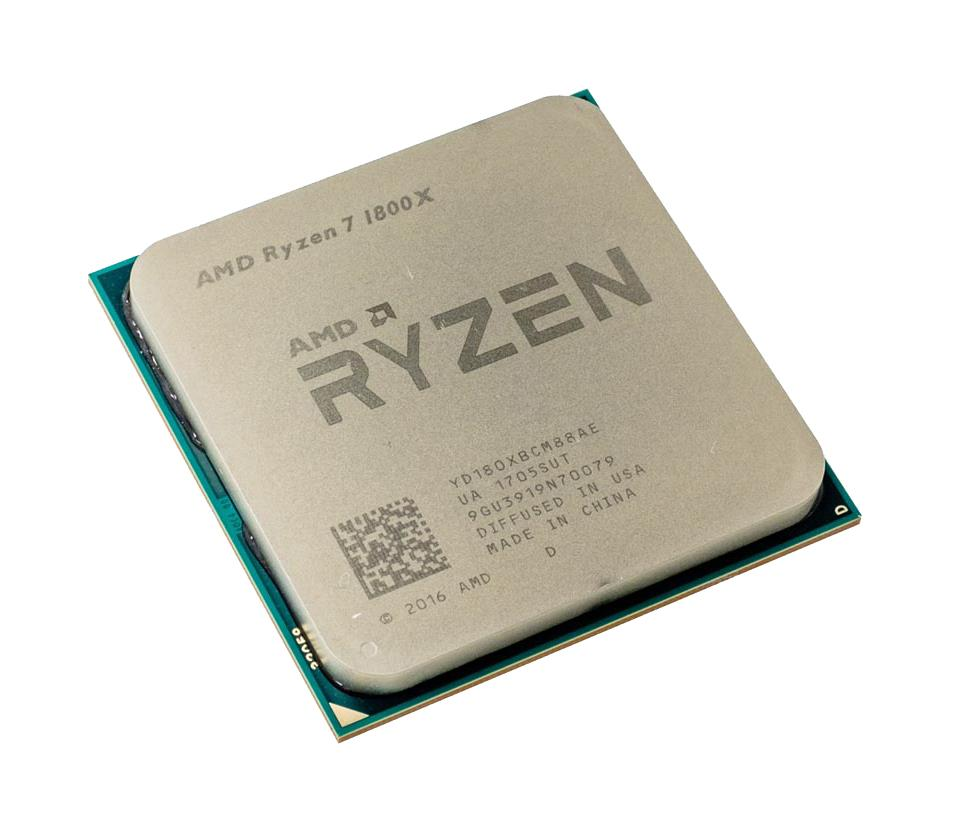 YD180XBCM88AE AMD Ryzen 7 1800X 8-Core 3.60GHz 16MB L3 Cache Socket AM4 Processor