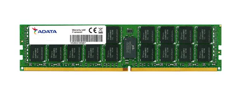 AD4R2400664G19 ADATA 64GB PC4-19200 DDR4-2400MHz ECC Registered CL17 288-Pin DIMM 1.2V Quad Rank Memory Module