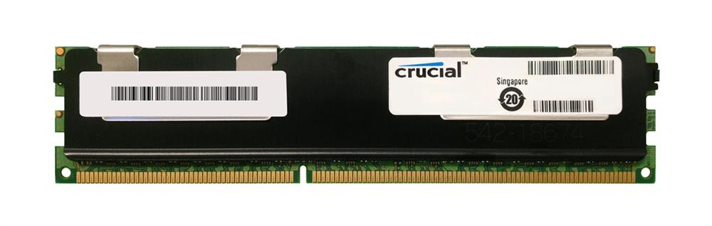 CT102472BB1339.Y36FY Crucial 8GB PC3-10600 DDR3-1333MHz Registered ECC CL9 240-Pin DIMM Dual Rank x4 Memory Module