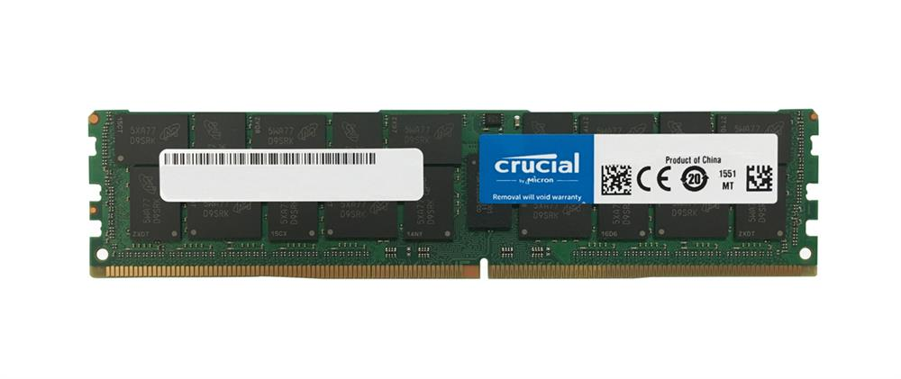 CT7155233 Crucial 64GB PC4-19200 DDR4-2400MHz ECC Registered CL17 288-Pin Load Reduced DIMM Quad Rank Memory Module for Tyan B7079F77CV10HR-2T-N System