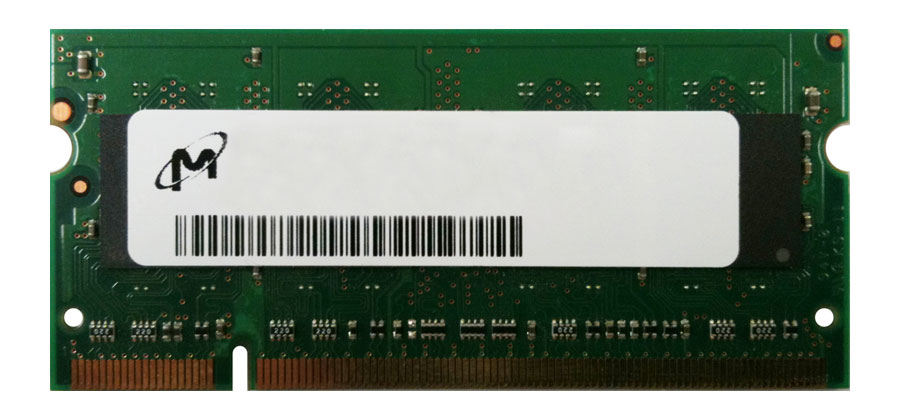 MT1GS8T1288-533-SPXX Micron 1GB PC2-4200 DDR2-533MHz non-ECC CL4 200-Pin SoDimm Single Rank Memory Module