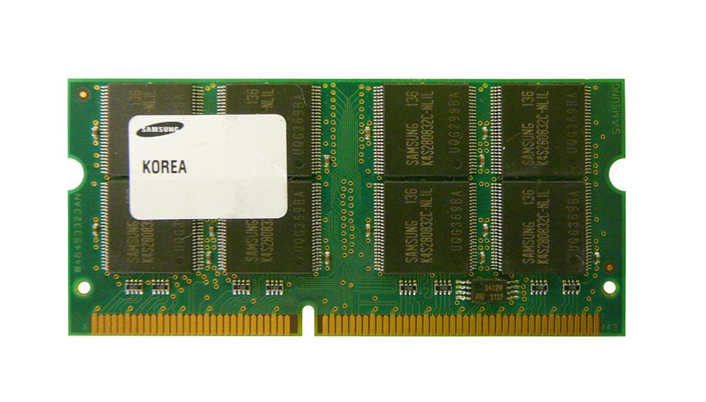Samsung 128MB PC133 non-ECC Unbuffered CL3 144-Pin SoDimm Memory Module Mfr P/N PC133S-333-542