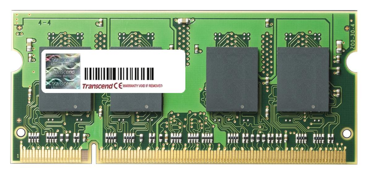TS2GIB3847 Transcend 2GB PC2-5300 DDR2-667MHz non-ECC Unbuffered CL5 200-Pin SoDimm Dual Rank Memory Module