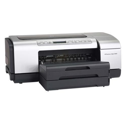 HP Business InkJet 2800DTN Color InkJet Printer 24-ppm 4800dpi x 1200dpi 96MB Duplex 65-Watts Parallel USB Ethernet 10/100Base-TX (Refurbished) Mfr P/N C8164A