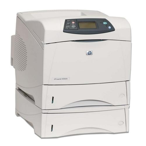 HP LaserJet 4250DTN B/W Laser Printer 43PPM 1200dpi x 1200dpi 1100-Sheets Parallel USB Ethernet Duplex 80MB (Refurbished) Mfr P/N Q5403A