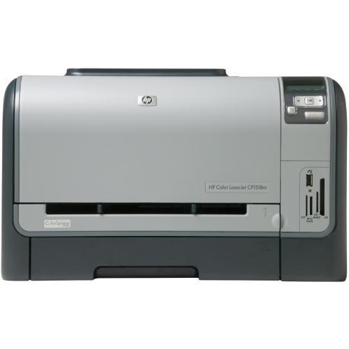 HP Color LaserJet CP1518ni Color Laser Printer 12ppm, 150-Sheets, 600dpi x 600dpi, 96MB Memory, Hi-Speed USB, Ethernet 10/100Base-TX (Refurbished) Mfr P/N CC378A