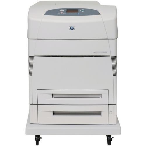 HP LaserJet 5550dtn Color Laser Printer 27-ppm, 1100-Sheets, 600dpi x 600dpi, Duplex, 256MB Memory, Fast Ethernet, USB Type B (Refurbished) Mfr P/N Q3716A