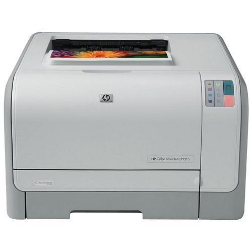 HP Color LaserJet CP1215 Laser Printer Color Photo Print Desktop 12 ppm Mono / 8 ppm Color Print 150 sheets Input Manual Duplex Print USB (Refurbished) Mfr P/N CC376A