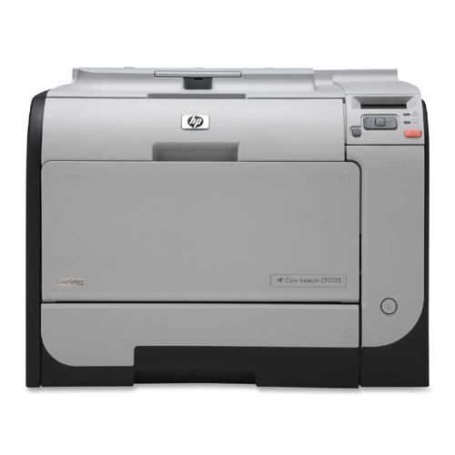 HP Color LaserJet CP2025N Manual Duplex Printer Color 21 ppm Mono 21 ppm Color 600 x 600 dpi USB Fast Ethernet PC, Mac (Refurbished) Mfr P/N CB494A