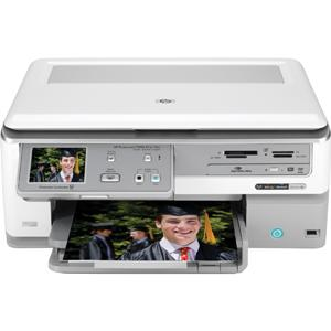 L2526A#ABA HP Photosmart C8180 All-in-One Multifunction Printer Color Printing Color Copying Color Scanning Black-and-White Printing (Refurbished)