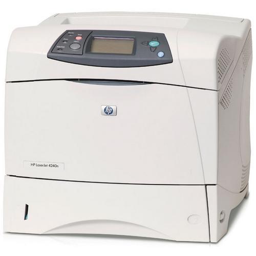 HP LaserJet 4240N Printer Monochrome Parallel Fast Ethernet PC, Mac, SPARC (Refurbished) Mfr P/N Q7785A