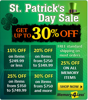 St. Patrick's Day Discount on all orders plus standard free shipping