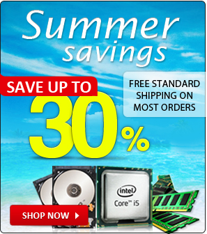 Summer Savings Discount on all orders plus standard free shipping