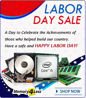Labor Day Discount on all orders plus standard free shipping