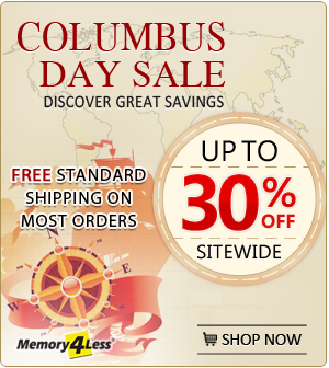Columbus Day Discount on all orders plus standard free shipping