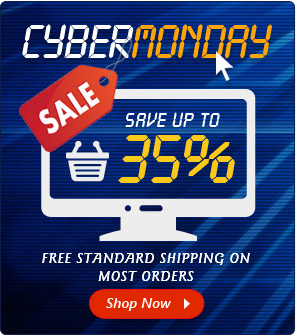 Cyber Monday Discount on all orders plus standard free shipping